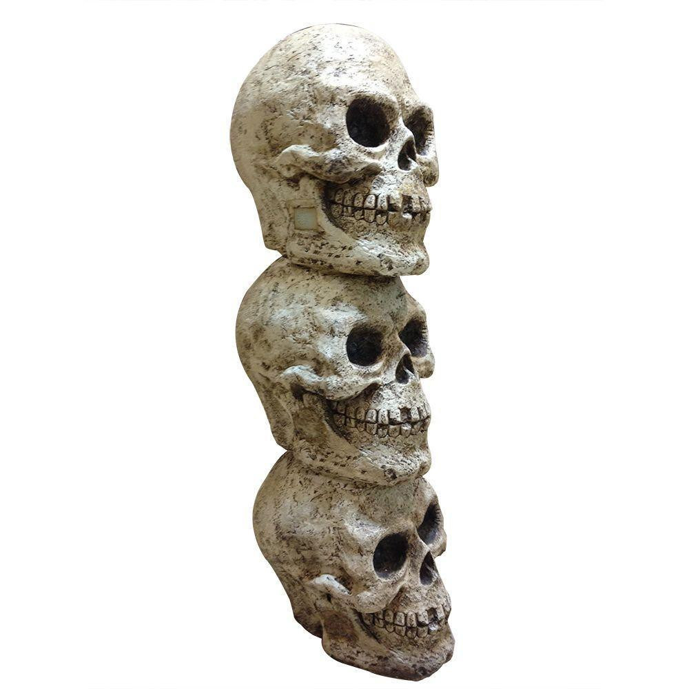 Christmas Blow Molds >> Tis Your Season | 3-Stacked Skulls w LED Lights & Sound
