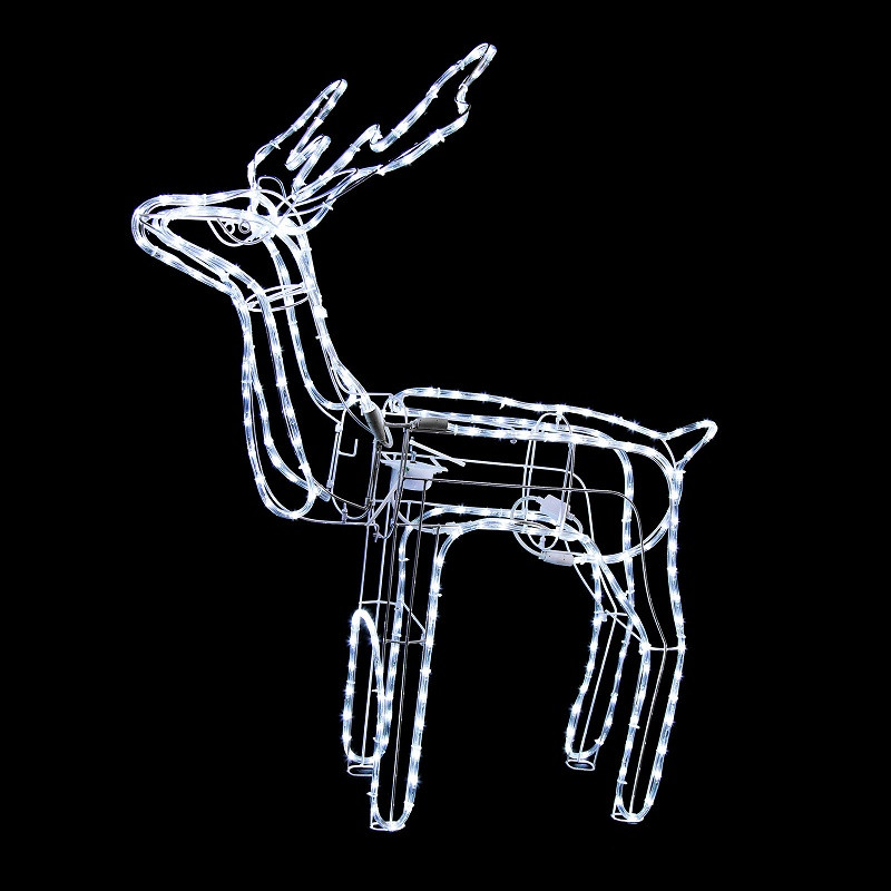 Tis your season animated lighted reindeer family led for Animated lighted reindeer christmas decoration