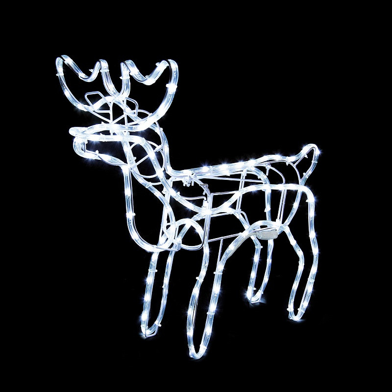 tis your season animated lighted reindeer family led rope light outdoor christmas decor yard art - Animated Lighted Reindeer Christmas Decoration