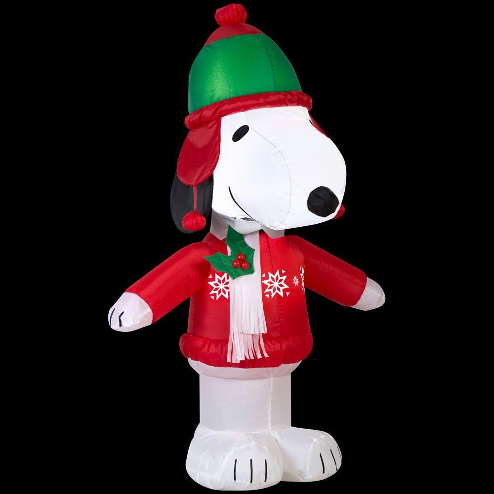 more views 35 snoopy in winter wear airblown inflatable christmas decoration - Snoopy Blow Up Christmas Decorations