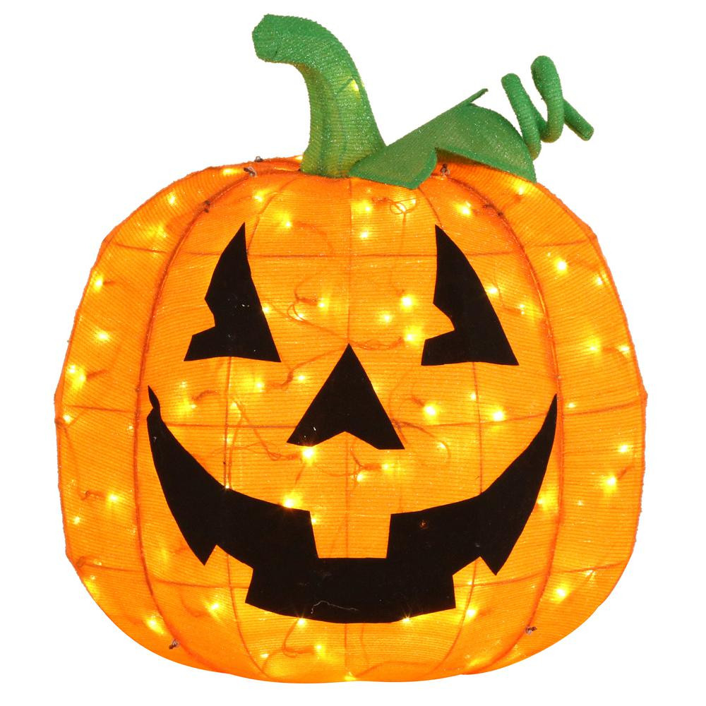 32 in. LED Tinsel Pumpkin