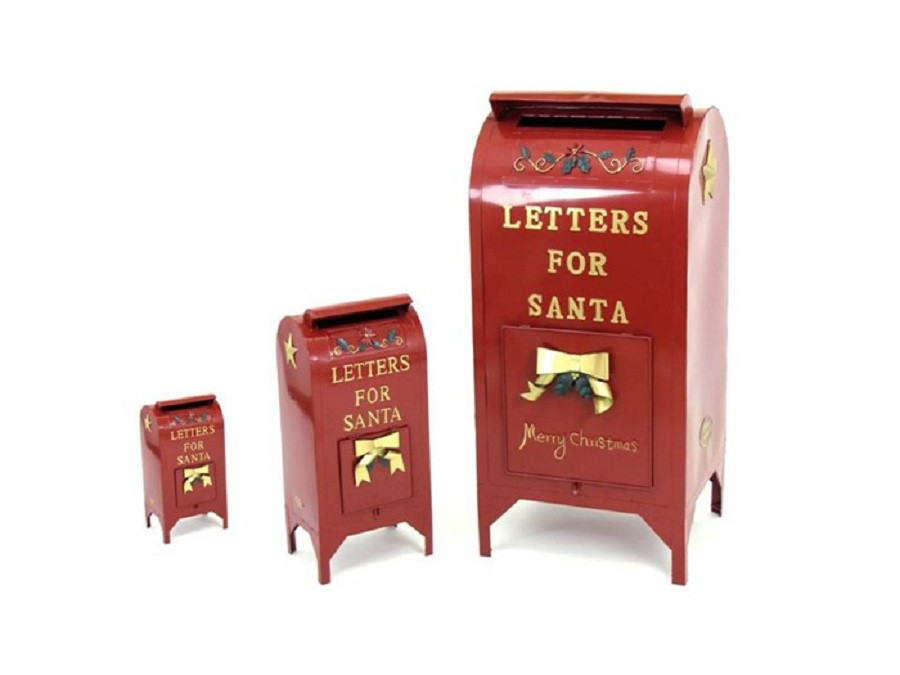 Letters for Santa Mailbox Christmas Decoration - Set of 3