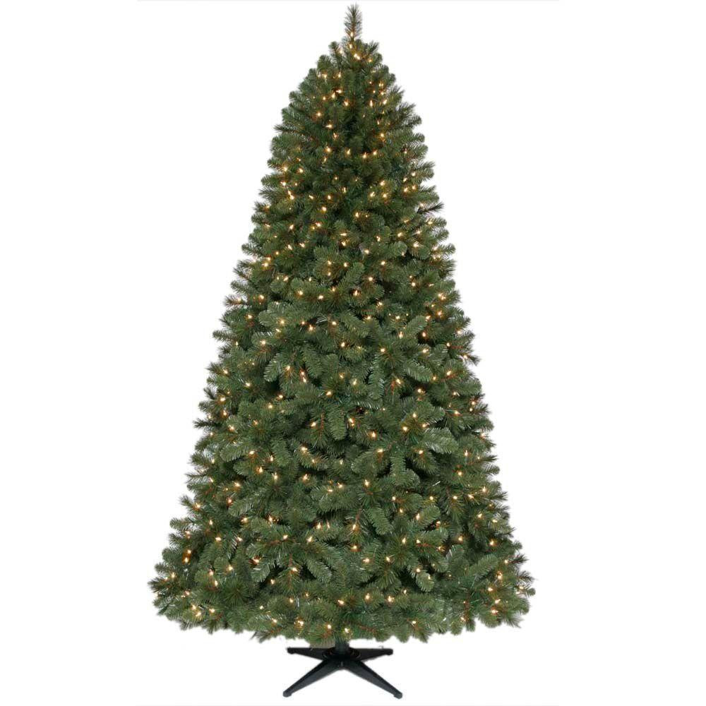 7.5 ft. Wesley Spruce Quick-Set Artificial Christmas Tree with 650 Clear Lights