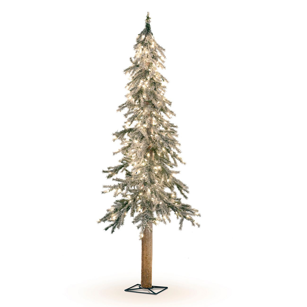 Tis Your Season | Flocked Alpine Pine 6\' Christmas Tree Pre-lit LED ...