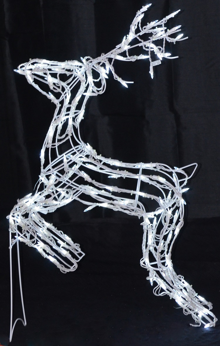 40 jumping reindeer led lighted christmas decoration