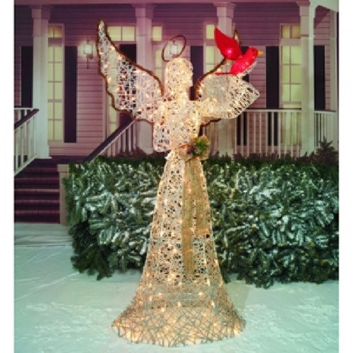 tis your season 70 life size lighted angel cardinal christmas decoration