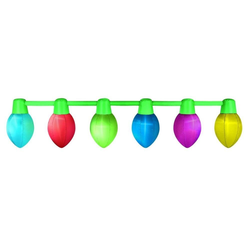 9' Hanging Color Changing Inflatable Bulbs