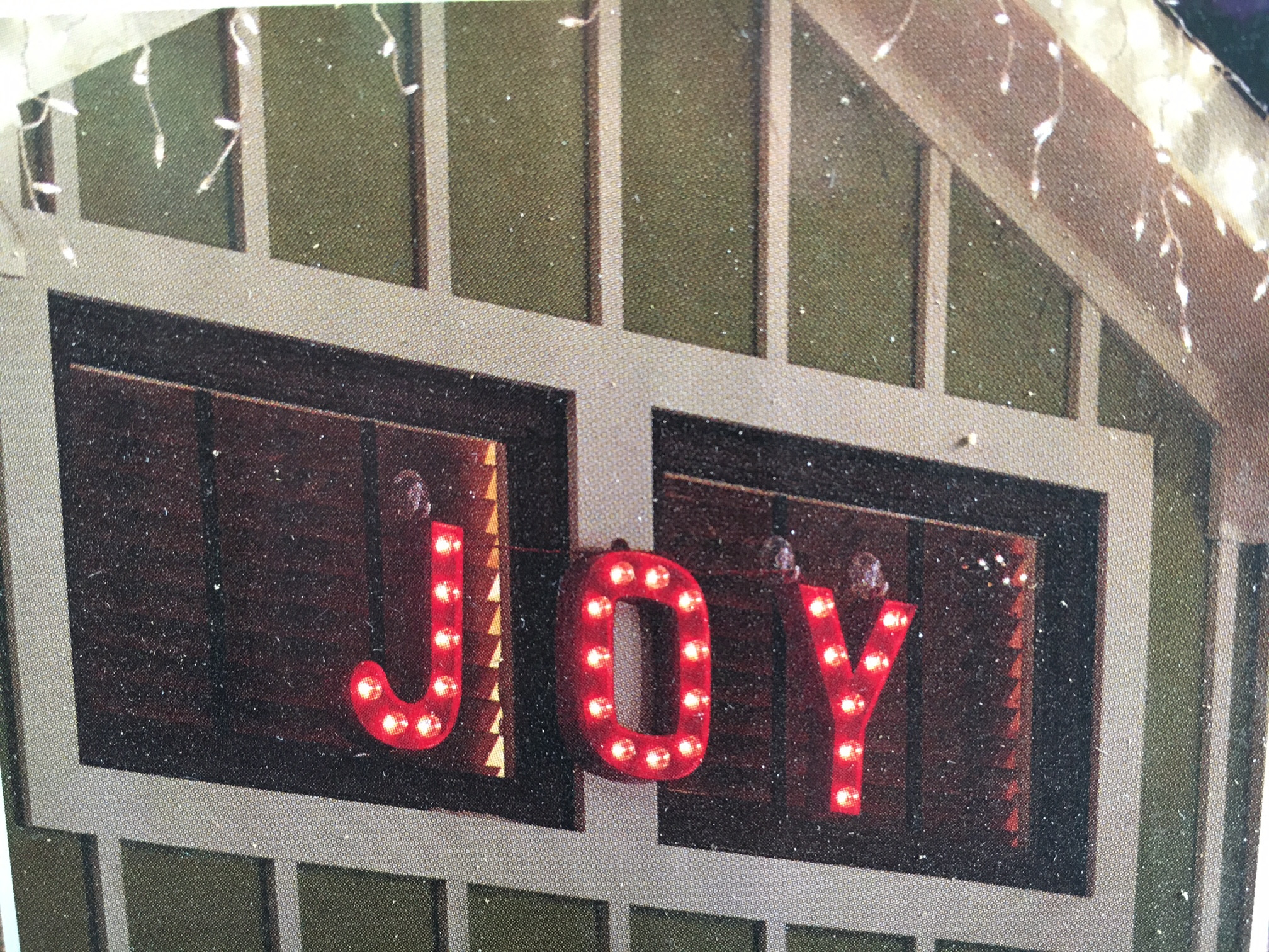 12 hanging lighted joy sign christmas decoration - Hanging Lighted Christmas Decorations