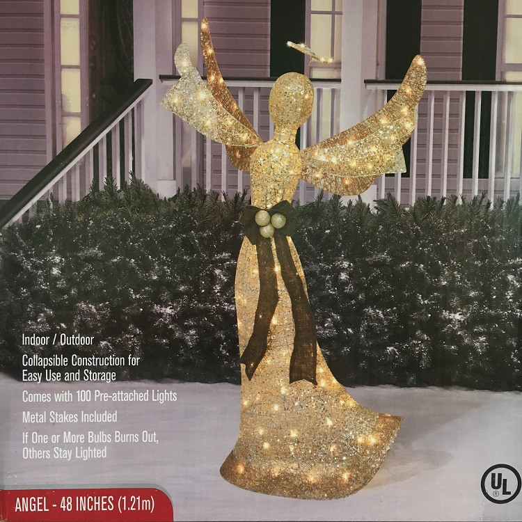 48 lighted shimmering champagne angel