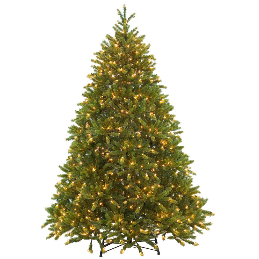6-1/2 ft. Feel-Real Jersey Fraser Fir Hinged Artificial Christmas Tree with 800 Clear Lights