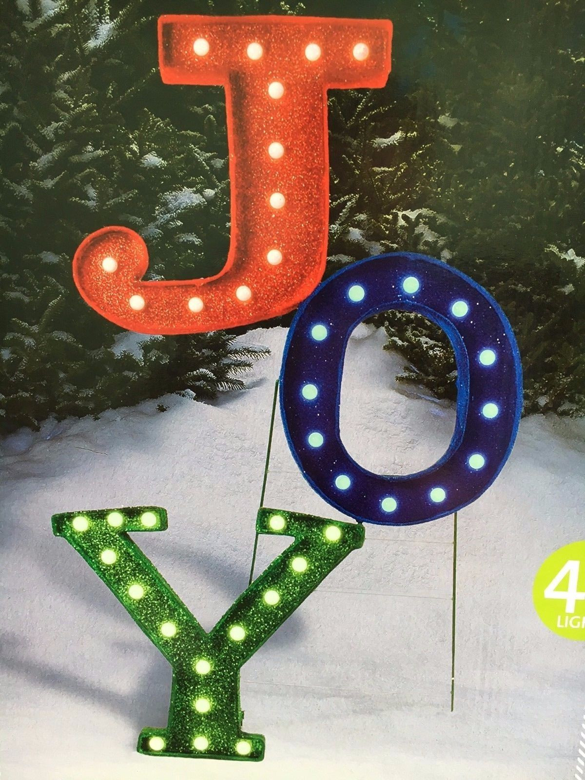 46 joy marquee sign with 40 lights outdoor christmas decoration