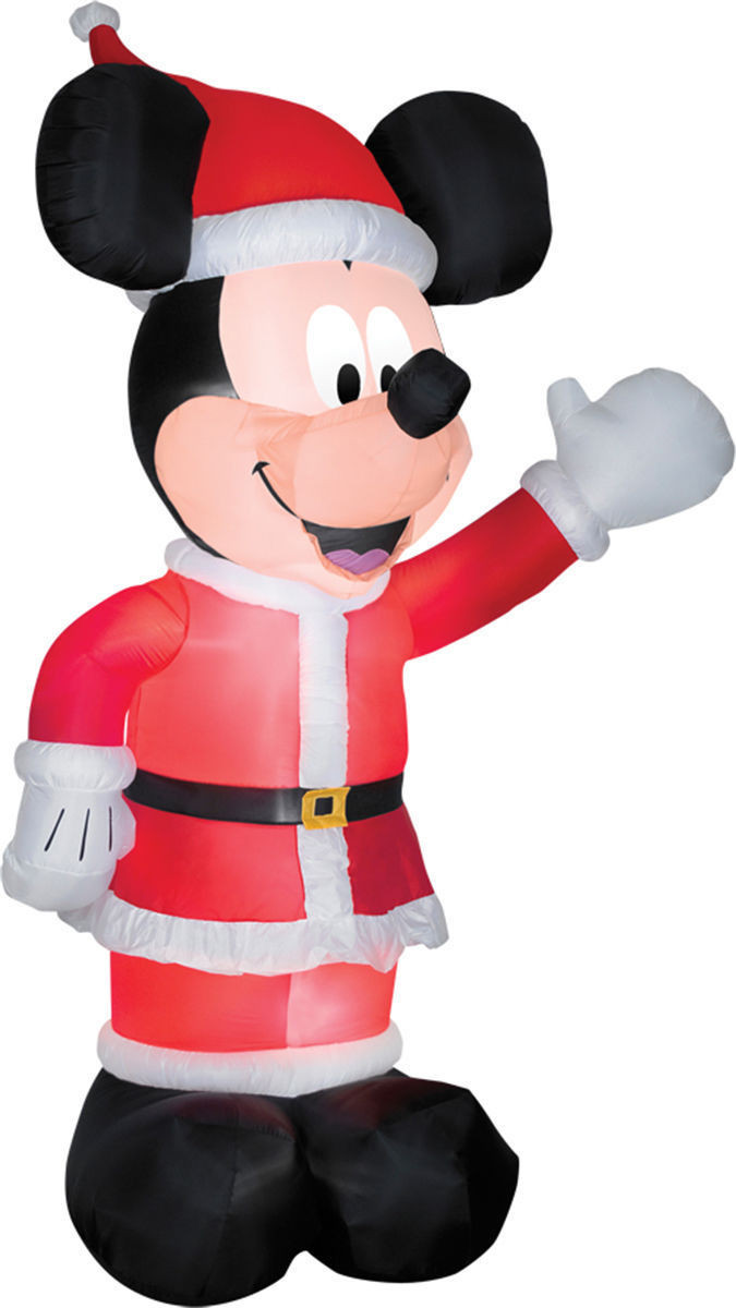 11' Mickey Mouse in Santa Suit Christmas Inflatable