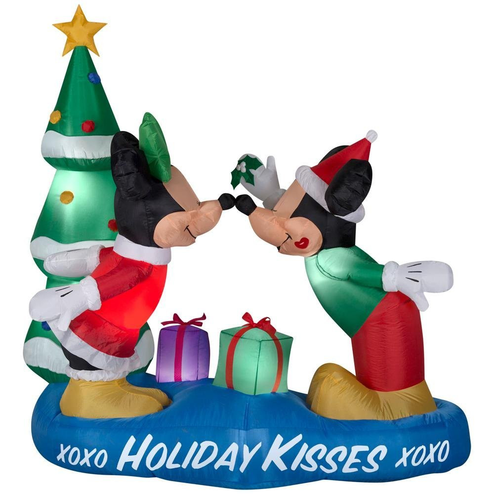 5.5 ft. Mickey and Minnie & Minnie Mistletoe Airblown Inflatable