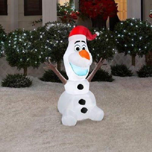 35 olaf airblown inflatable christmas decoration - Disney Inflatable Christmas Decorations