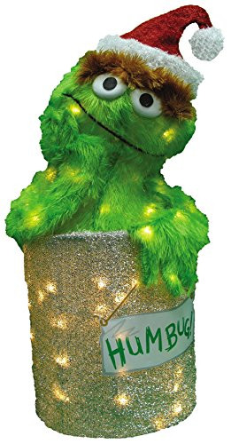 Tis Your Season 24 Inch Pre Lit 3d Oscar The Grouch With