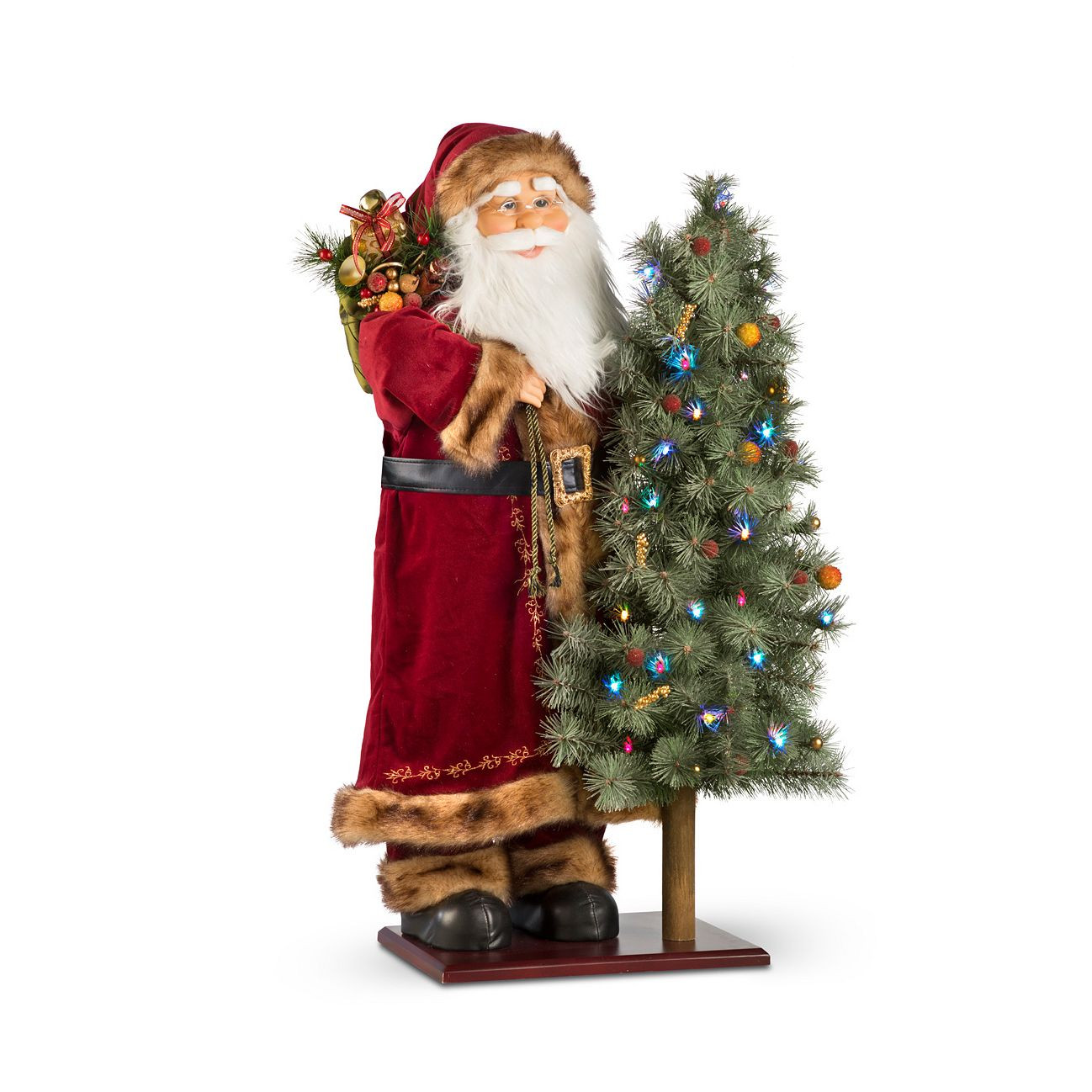 "36"" Animated Lighted Santa Claus Musical Figure"