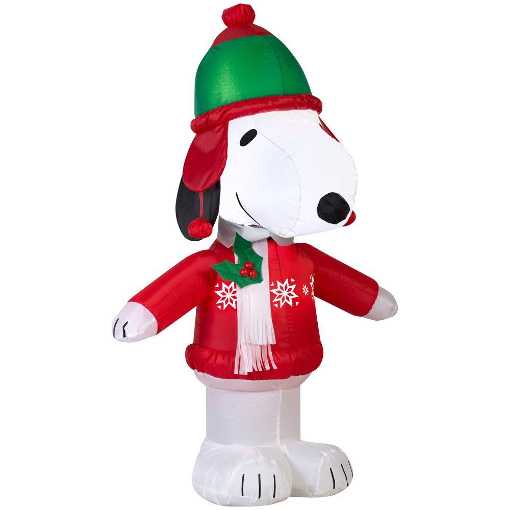 3.5' Snoopy in Winter Wear Airblown Inflatable Christmas Decoration