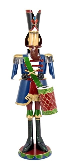 tis your season 70 iron metal nutcracker w drums toy soldier christmas decor indooroutdoor