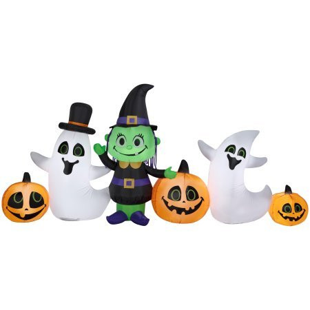9 ft Witch, Ghost and Pumpkin Airblown Inflatable