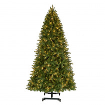 7 ft. to 9 ft. Pre-Lit LED Virginia Pine Grow & Stow Artificial Christmas Tree