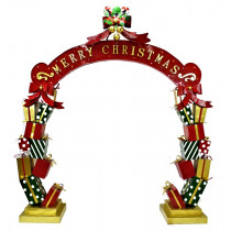 Life-Size Christmas Archway with Presents, Candy Canes, LED Lights Commercial Christmas Decoration