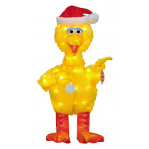 32-Inch 3D Pre-Lit Big Bird with Ornaments Christmas Decoration