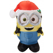 3.5' Bob Minion with Santa Hat Christmas Inflatable