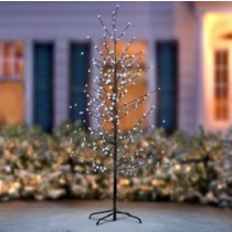 6 Ft LED Flower Blossom Tree Pre-Lit Christmas Decoration