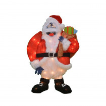 24 inch pre lit 2 d bumble santa christmas decoration