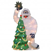 "32"" Pre-Lit 2-D Bumble with Tree"