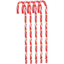 "28"" Candy Cane Pathway Markers Christmas Decoration Pack of 5"