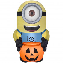 8.5 ft. Halloween Inflatable Minion Carl with Pumpkin Sack