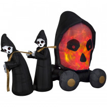 7ft. Fire and Ice Skull Coach Scene Airblown Inflatable