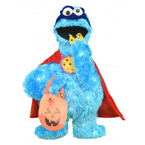 24-Inch Pre-Lit Sesame Street Cookie Monster Halloween Yard Decoration