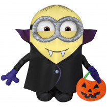 3.5 ft. Halloween Inflatable Minion Dave in Vampire Cape