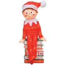 24-Inch Pre-Lit Elf on the Shelf Christmas Yard Decoration, 50 Lights