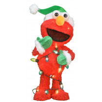 24-Inch Pre-Lit 3D Elmo with String of Lights
