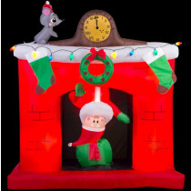 5.5' Animated Santa Popping out of the Chimney Inflatable