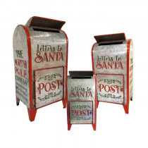 Galvanized Metal Letters for Santa Mailbox Christmas Decoration - Set of 3