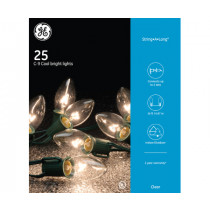 GE 25 Count Warm White C9 Glow Bright Glass Bulb Light Set