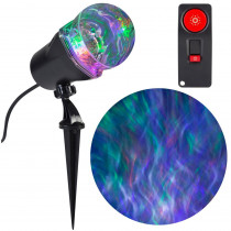 Halloween Projection Stake Multi-Color LED Ghost Flame 15 Programs with Remote
