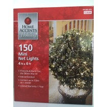150-Light Clear 4 ft. x 6 ft. Net Light Set