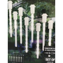 Lightshow Shooting Star 7ft White LED Icicle Lights Set of 8