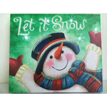 Let it Snow Snowman Picture on Canvas