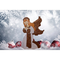 28-Inch Hammered Metal Angel Christmas Decoartion
