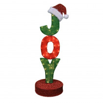 42 in. Pre-Lit JOY Sign on Rotating Pedestal