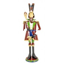 "70"" Iron Metal Toy Soldier with Staff Christmas Decoration"