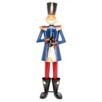"60"" Iron Metal Toy Soldier with Trumpet Christmas Decoration"