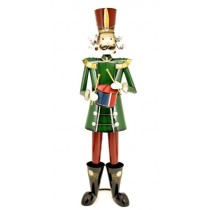 "60"" Iron Metal Toy Soldier with Drum Christmas Decoration"