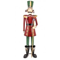 "60"" Iron Metal Toy Soldier with Staff Christmas Decoration"